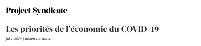 l'Economie du COVID-19